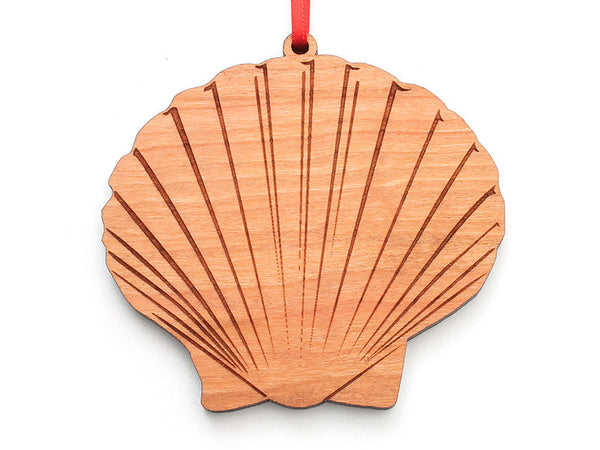 Scallop Shell Ornament - Nestled Pines