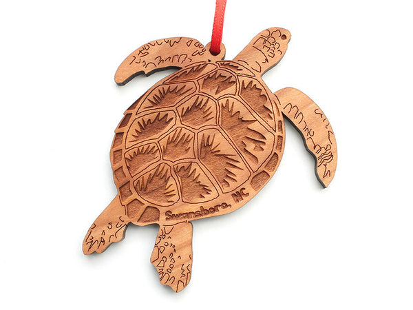 Sea Turtle S Ornament ND - Nestled Pines