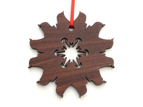 Simple Snowflake D Ornament - Nestled Pines