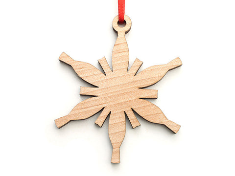Simple Snowflake F Ornament - Nestled Pines