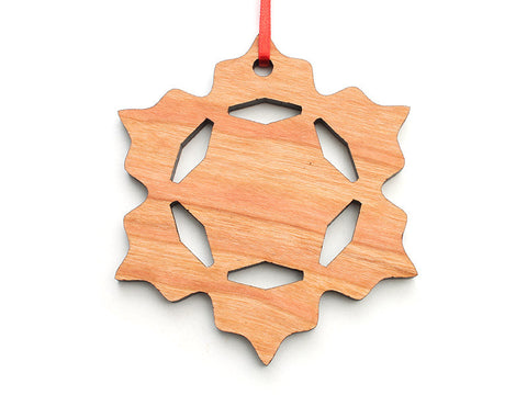 Simple Snowflake A Ornament - Nestled Pines