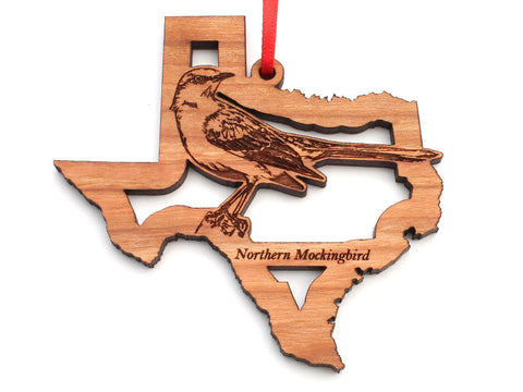 Texas State Bird Ornament - Northern Mockingbird