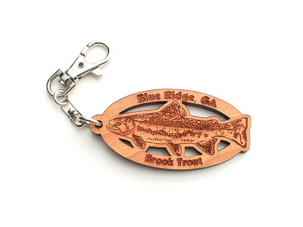 Blue Ridge Brook Trout Key Chain - Nestled Pines