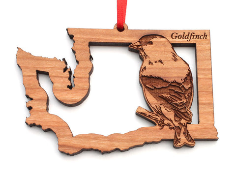 Washington State Bird Ornament - Goldfinch