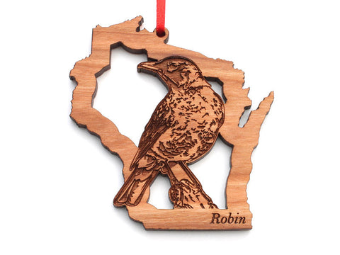 Wisconsin State Bird Ornament - Robin