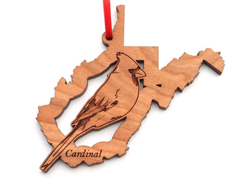West Virginia State Bird Ornament - Cardinal