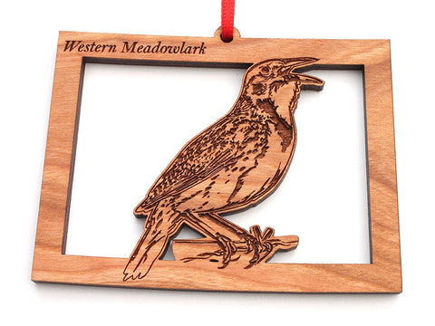 Wyoming State Bird Ornament - Western Meadowlark