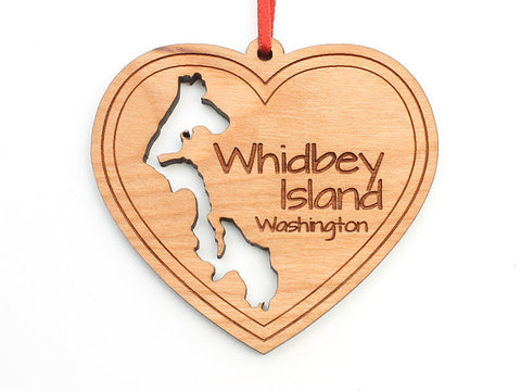 Admiralty Head Whidbey Island Heart Custom Ornament - Nestled Pines