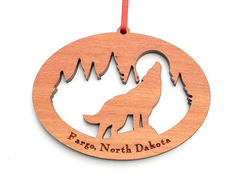 Northwoods Howling Wolf Ornament - Nestled Pines