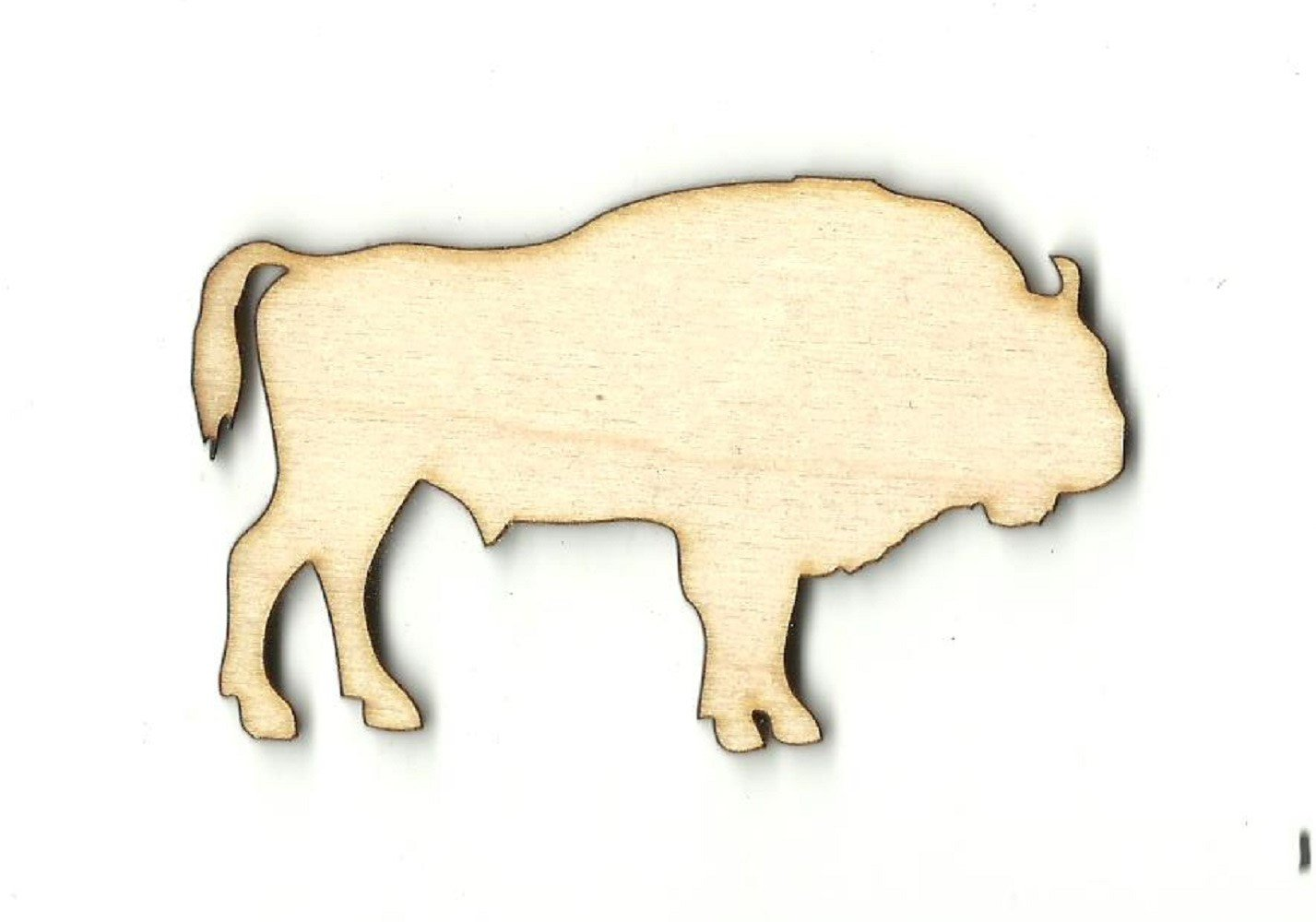 Bison Buffalo - Laser Cut Wood Shape Anml54 Craft Supply