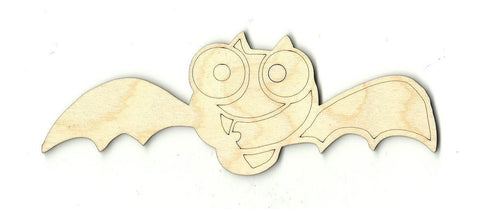 Bat - Laser Cut Wood Shape Bat3 Craft Supply
