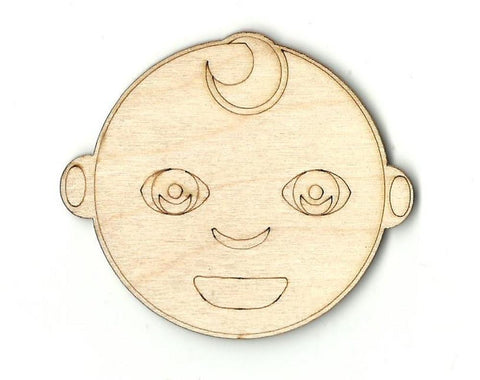 Baby Face - Laser Cut Wood Shape Bby3 Craft Supply