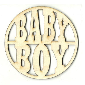 Baby Boy - Laser Cut Wood Shape Bby50 Craft Supply