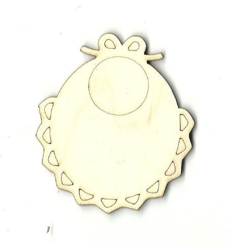 Baby Bib - Laser Cut Wood Shape Bby9 Craft Supply
