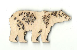 Bear - Laser Cut Wood Shape Ber10 Craft Supply