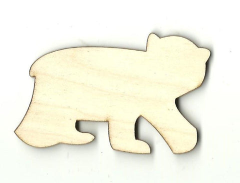 Bear - Laser Cut Wood Shape Ber13 Craft Supply