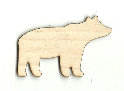 Bear - Laser Cut Wood Shape Ber15 Craft Supply