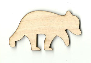 Bear - Laser Cut Wood Shape Ber16 Craft Supply