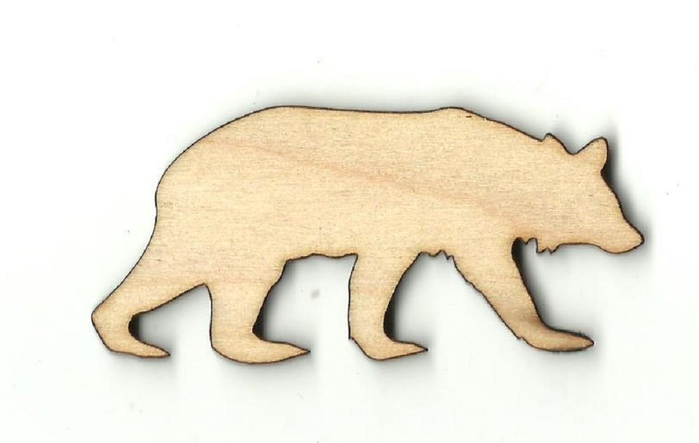 Grizzly Bear - Laser Cut Wood Shape Ber31 Craft Supply
