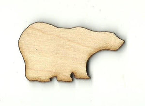 Bear - Laser Cut Wood Shape Ber22 Craft Supply