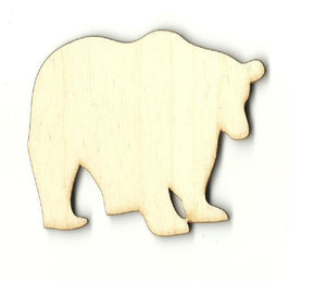 Bear - Laser Cut Wood Shape Ber35 Craft Supply