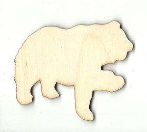 Bear - Laser Cut Wood Shape Ber36 Craft Supply