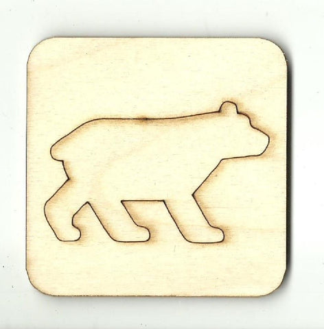 Bear - Laser Cut Wood Shape Ber44 Craft Supply