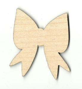 Bow - Laser Cut Wood Shape Bow10 Craft Supply