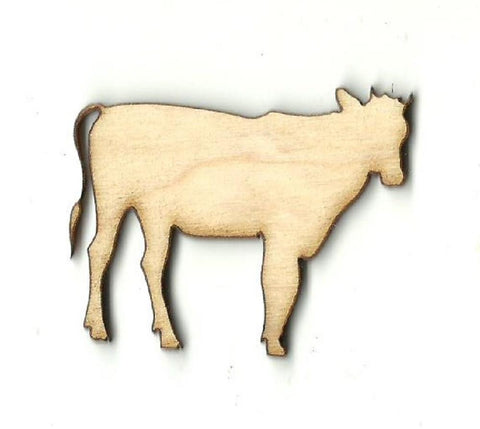 Cow - Laser Cut Wood Shape Cow12 Craft Supply