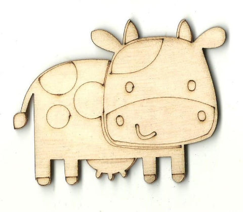 Cow - Laser Cut Wood Shape Cow21 Craft Supply
