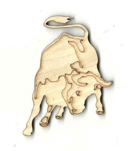 Bull - Laser Cut Wood Shape Cow4 Craft Supply