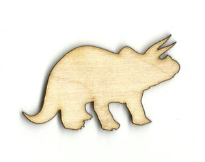 Triceratops Dinosaur - Laser Cut Wood Shape Din26 Craft Supply
