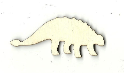 Ankylosaurus Dinosaur - Laser Cut Wood Shape Din9 Craft Supply
