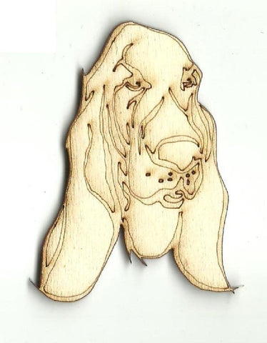 Basset Hound Dog - Laser Cut Wood Shape Dog111 Craft Supply