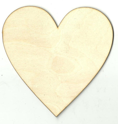 Heart - Laser Cut Wood Shape Hrt14 Craft Supply