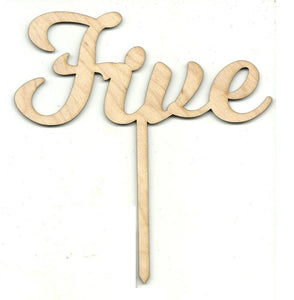 Number Five 5 Pick - Laser Cut Wood Shape Pic14 Craft Supply