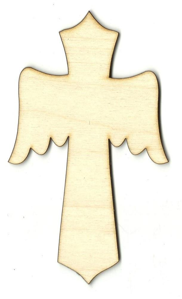Cross - Laser Cut Wood Shape Rel3 Craft Supply