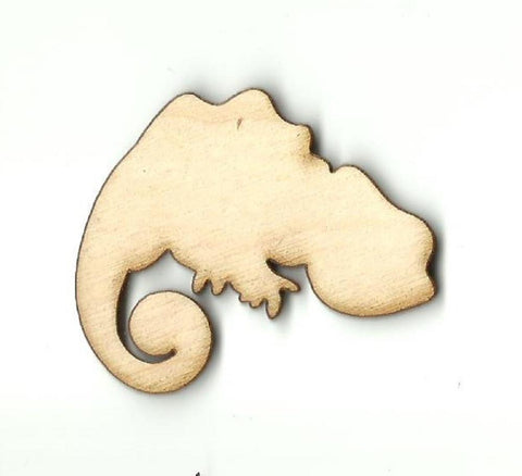 Chameleon - Laser Cut Wood Shape Rep25 Craft Supply