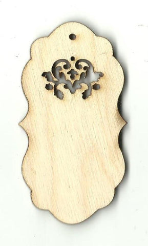 Gift Tag - Laser Cut Wood Shape Tag10 Craft Supply