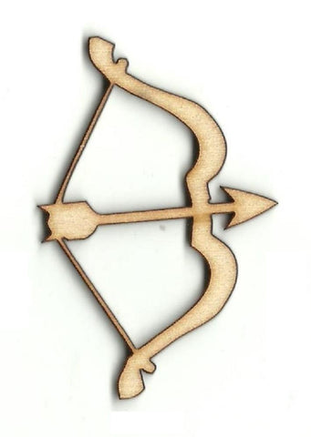 Bow And Arrow - Laser Cut Wood Shape Wpn6 Craft Supply