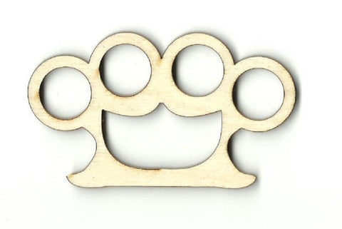 Brass Knuckles - Laser Cut Wood Shape Wpn8 Craft Supply