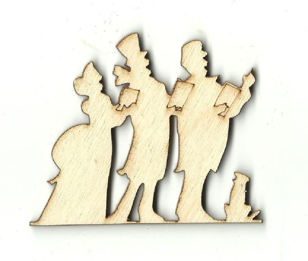 Christmas Carolers - Laser Cut Wood Shape Xms62 Craft Supply