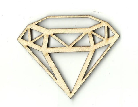 Diamond - Laser Cut Wood Shape Xtr21 Craft Supply