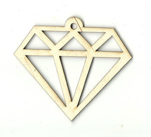 Diamond - Laser Cut Wood Shape Xtr31 Craft Supply