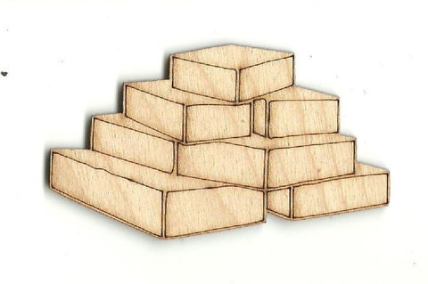 Bricks - Laser Cut Wood Shape Xtr49 Craft Supply