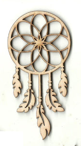 Dream Catcher - Laser Cut Wood Shape XTR91