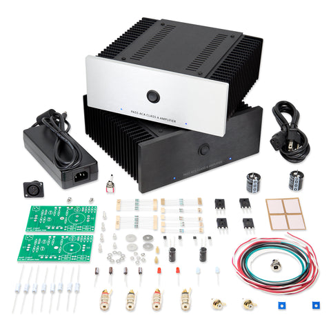 Both chassis styles (silver and black), the PSU and the parts kit. Please note only 1 chassis is included in the complete kit, you must choose which style you prefer.