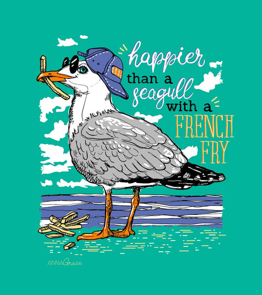 Anna Grace Seagull with a French Fry Comfort Color Tee