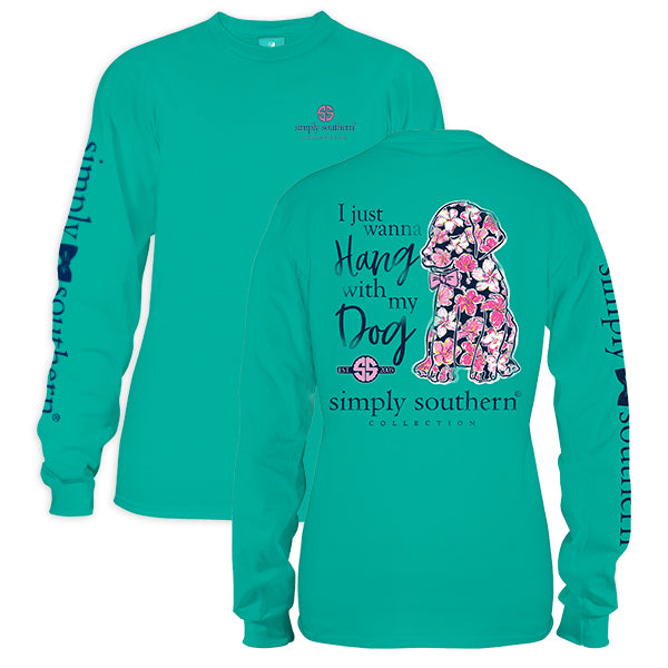 "Youth Simply Southern Long Sleeve Tee - ""Preppy Dog"""
