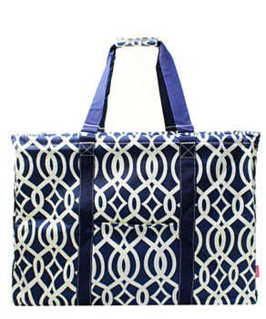 Utility Tote Extra Large - Vine Print - 3 Color Choices